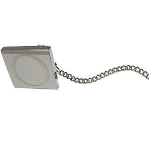 Letter O Etched Monogram Pendant Tie Tack